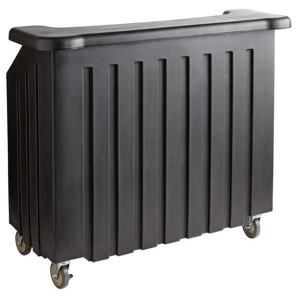 """Scratch and Dent Cambro BAR540110 Cambar® Black 54"""" Portable Bar with 5-Bottle Speed Rail Main Image 1"""