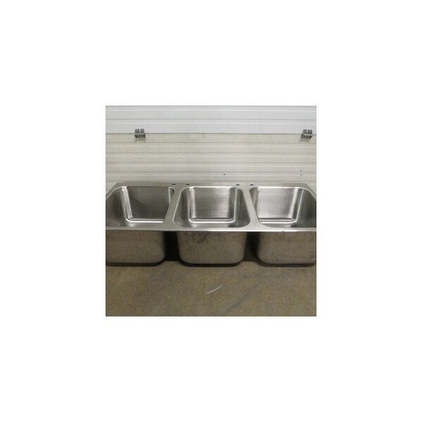 "Advance Tabco DI-3-1612 3 Compartment Drop In Sink - 16"" x 20"" x 12"" Bowls"