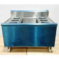 Eagle Group B2CT-18-7 24 inch Underbar Ice Bin/Cocktail Unit with 7 Circuit Cold Plate