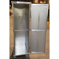Cres Cor 100-1841D 40 Pan End Load Enclosed Non-Insulated Bun / Sheet Pan Rack - Assembled