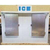 Polar Temp 1000CW Cold Wall Outdoor Ice Merchandiser - 100 cu. ft.