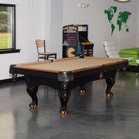 Minnesota Fats MFT800-TBL Covington 8' Tan Billiard / Pool Table with Accessories