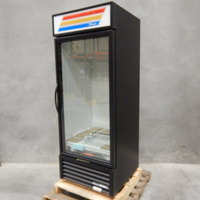 True GDM-26-HC~TSL01 Black Glass Door Refrigerated Merchandiser with LED Lighting
