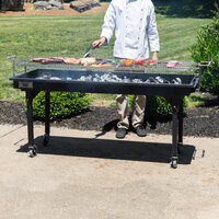 Backyard Pro CHAR60 60 inch Heavy-Duty Steel Charcoal Grill with Removable Legs and Cover