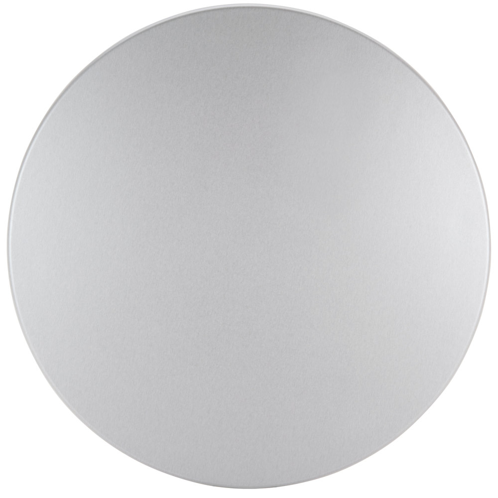 Exceptionnel BFM Seating SM42R SoHo 42 Inch Round Outdoor / Indoor Tabletop   Silver  Mist ...
