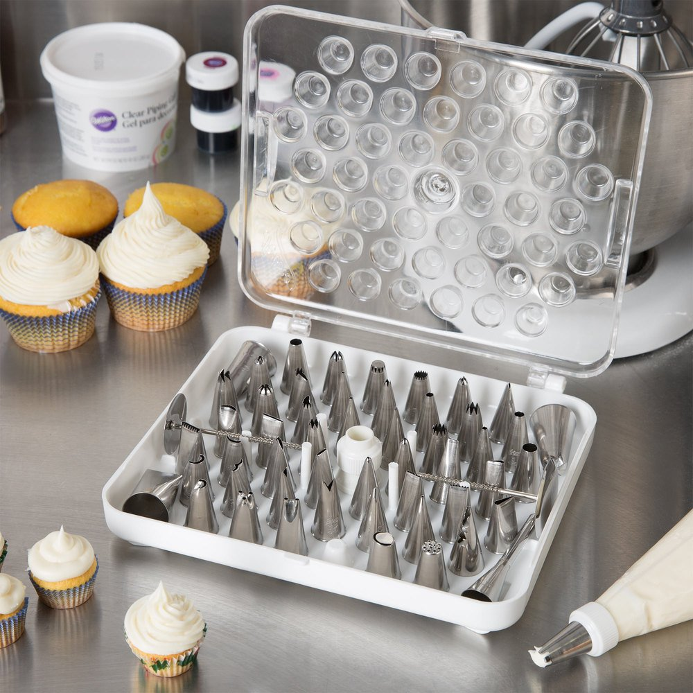 55 piece stainless steel pastry tube decorating set august thomsen