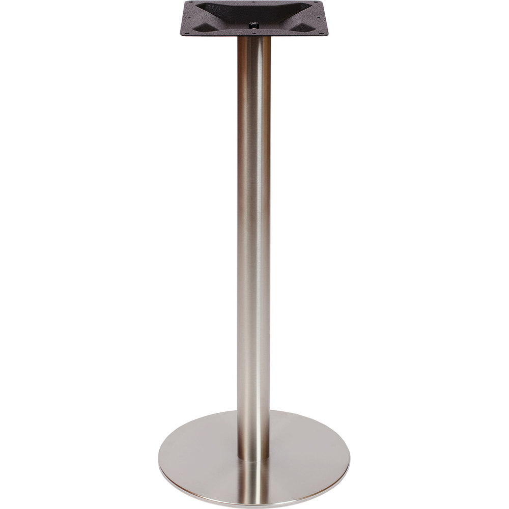 Round Stainless Base Coffee Height Tables: BFM Seating PHTB24RSST Elite Bar Height Outdoor / Indoor
