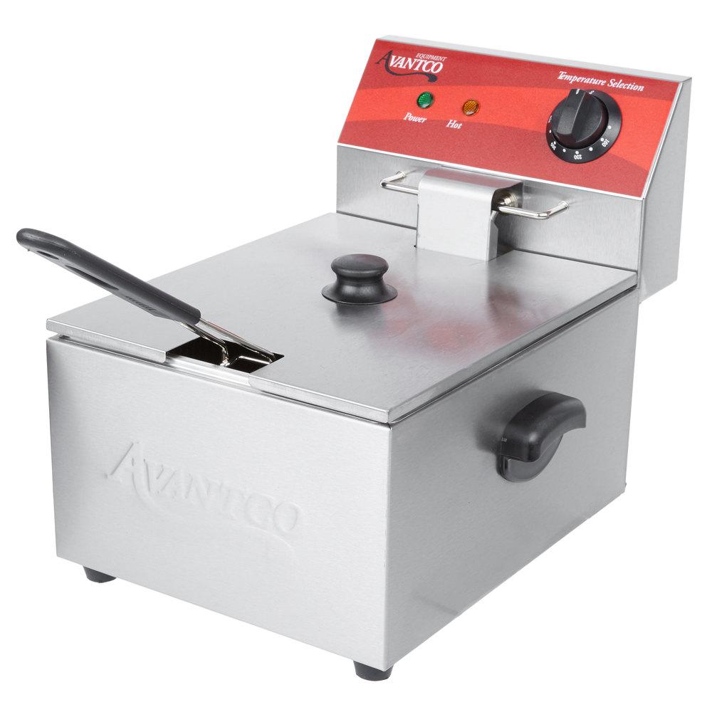 Avantco f lb electric countertop fryer v w