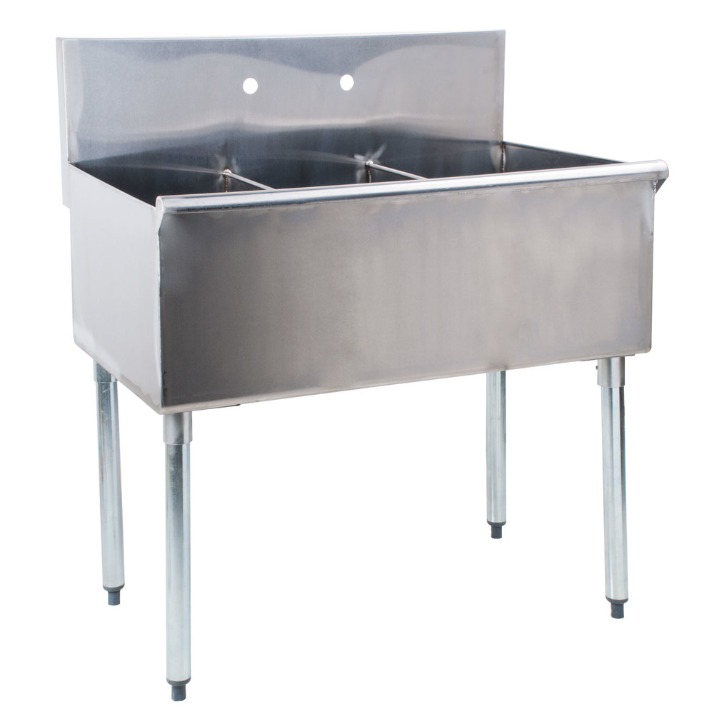 Plastic Utility Sink With Drainboard : ... Commercial Sink without Drainboards - 12