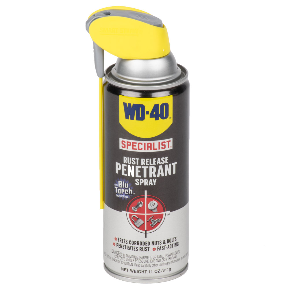 wd 40 300004 specialist 11 oz rust release penetrant spray with smart straw. Black Bedroom Furniture Sets. Home Design Ideas