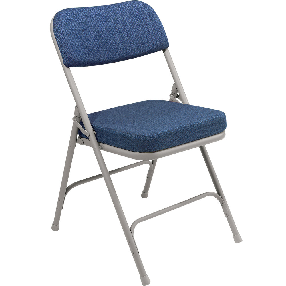 metal padded folding chairs. National Public Seating 3215 Gray Metal Folding Chair With 2 Inch Regal Blue Fabric Padded Seat Chairs L