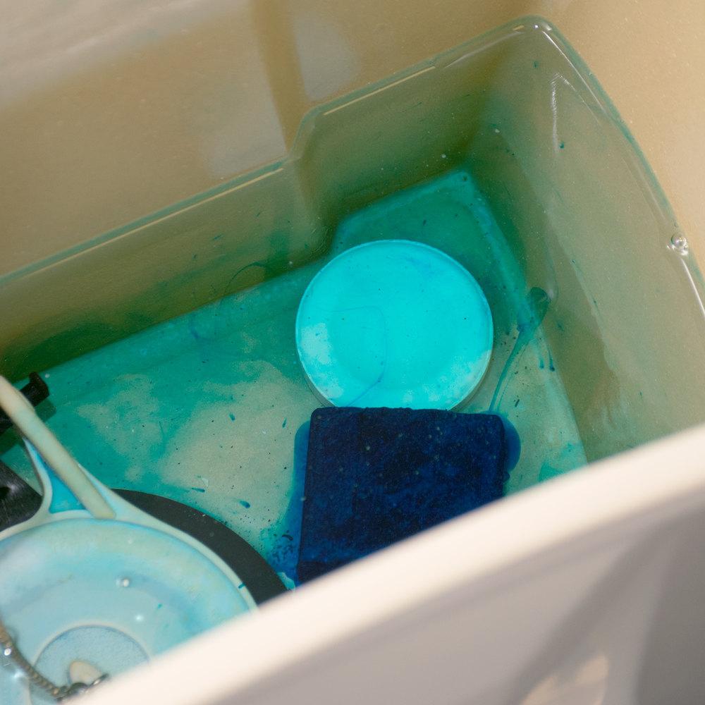 2000 Flushes 208017 Blue Plus Bleach Automatic Toilet Bowl