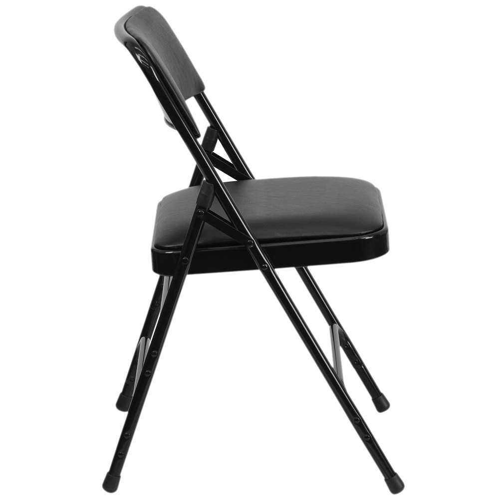 Black Padded Folding Chairs - Main picture image preview