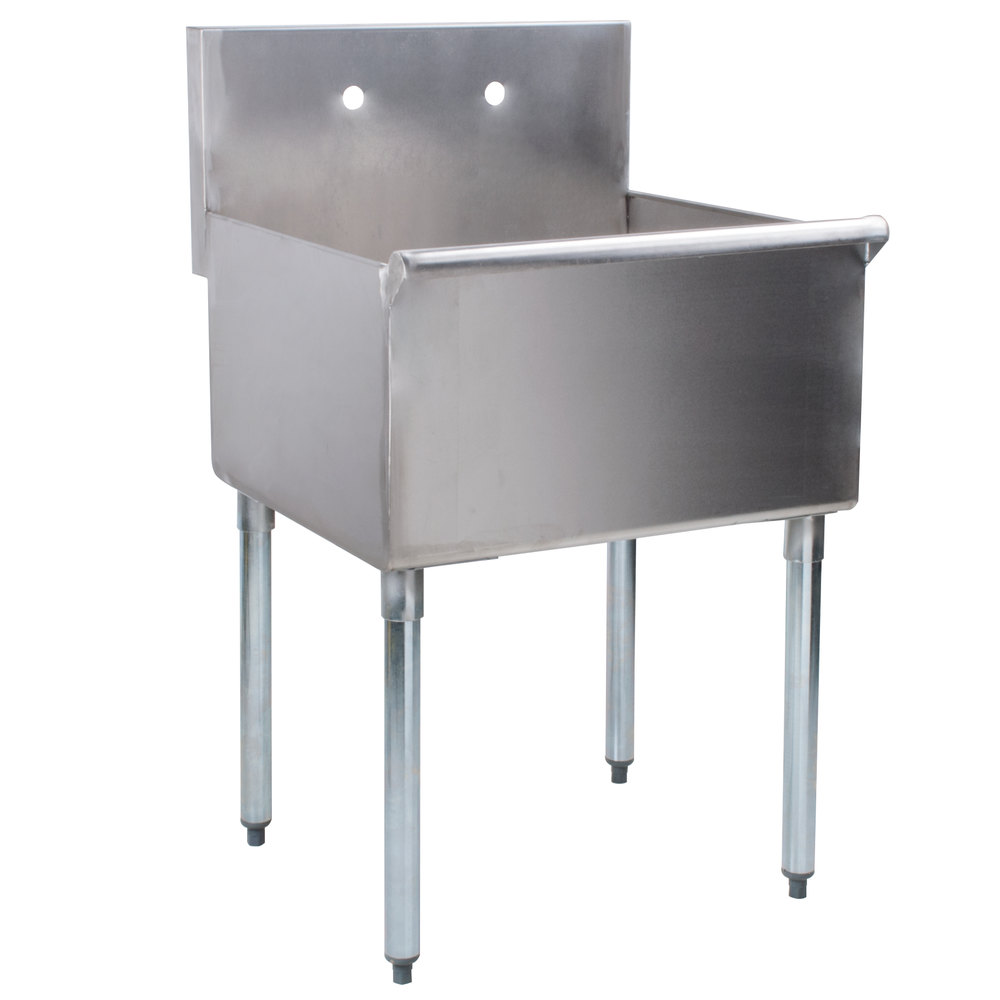 Regency 24 inch 16-Gauge Stainless Steel One Compartment Commercial Utility Sink - 24 inch x 24 inch x 14 inch Bowl