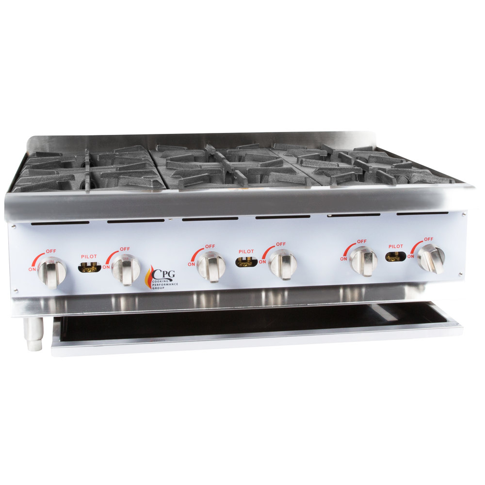 Cooking Performance Group Hp636 6 Burner Gas Countertop