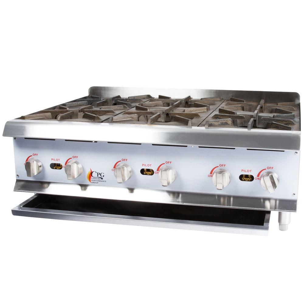 ... Group HP636 6 Burner Gas Countertop Hot Plate - 132,000 BTU