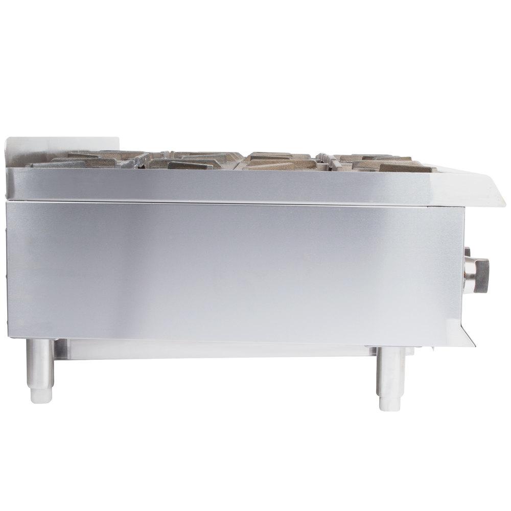 Countertop Gas Burner : ... Group HP636 6 Burner Gas Countertop Hot Plate - 132,000 BTU
