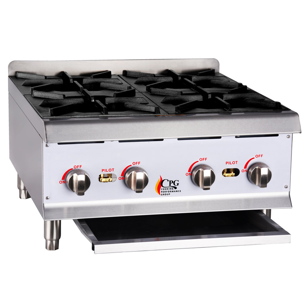 Countertop Gas Burner : ... Performance Group HP424 4 Burner Gas Countertop Hot Plate - 88,000 BTU