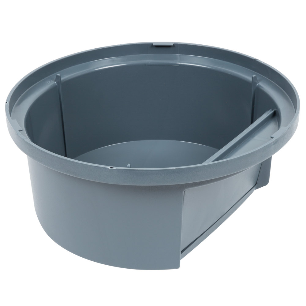 rubbermaid commercial fg264788 gray 44 gallon brute trash dome top