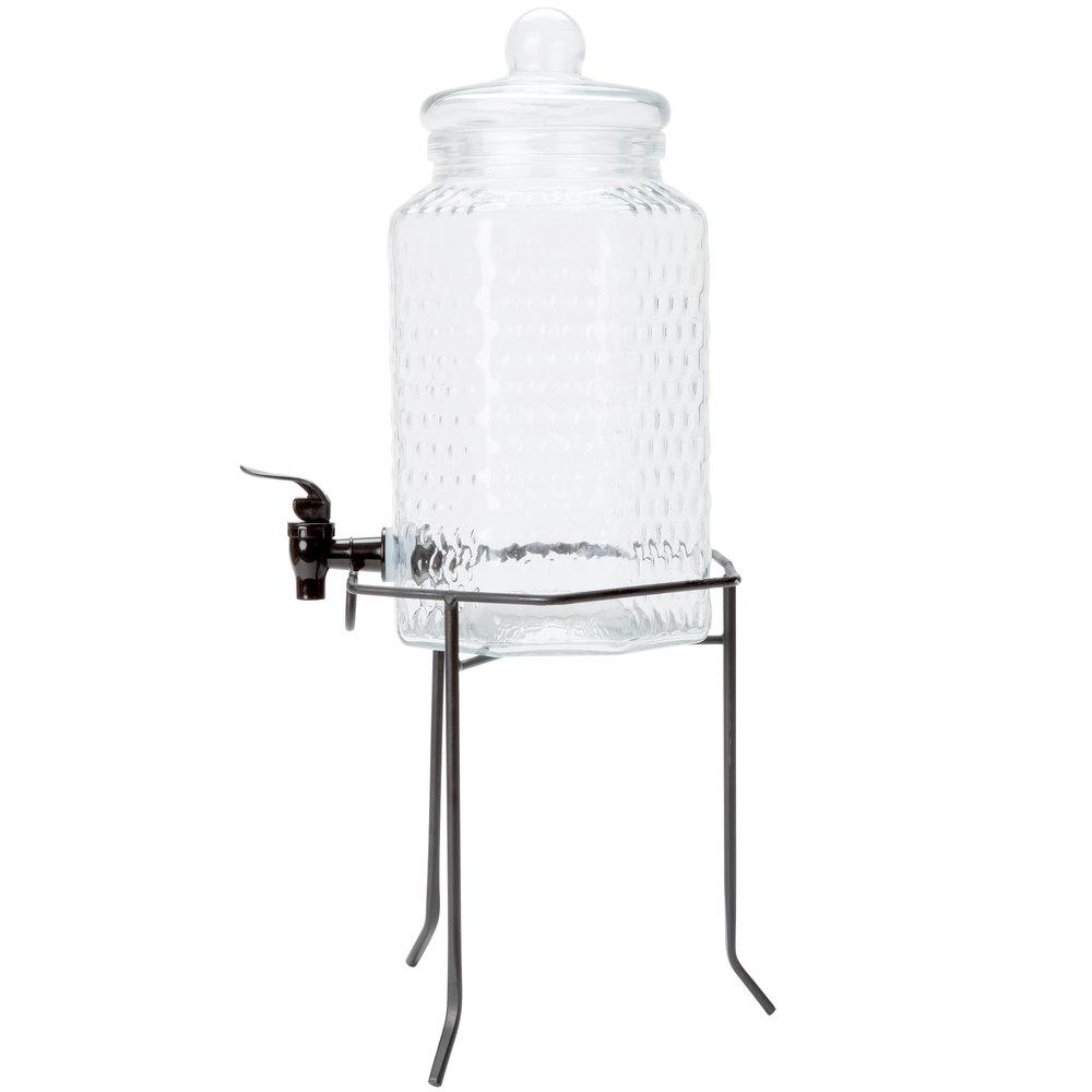 core 1 gallon glass beverage dispenser with metal stand. Black Bedroom Furniture Sets. Home Design Ideas