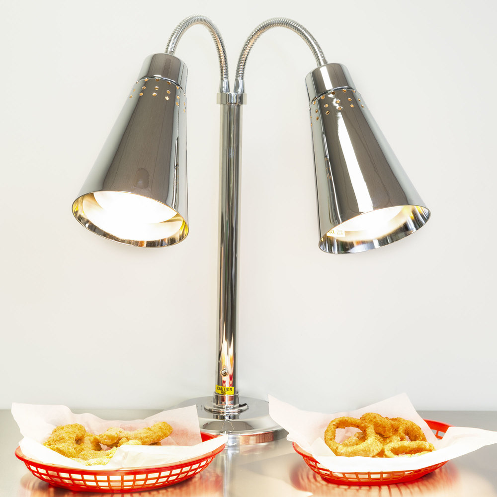 hanson heat lamps dlm/900/st two lamp stainless steel freestanding