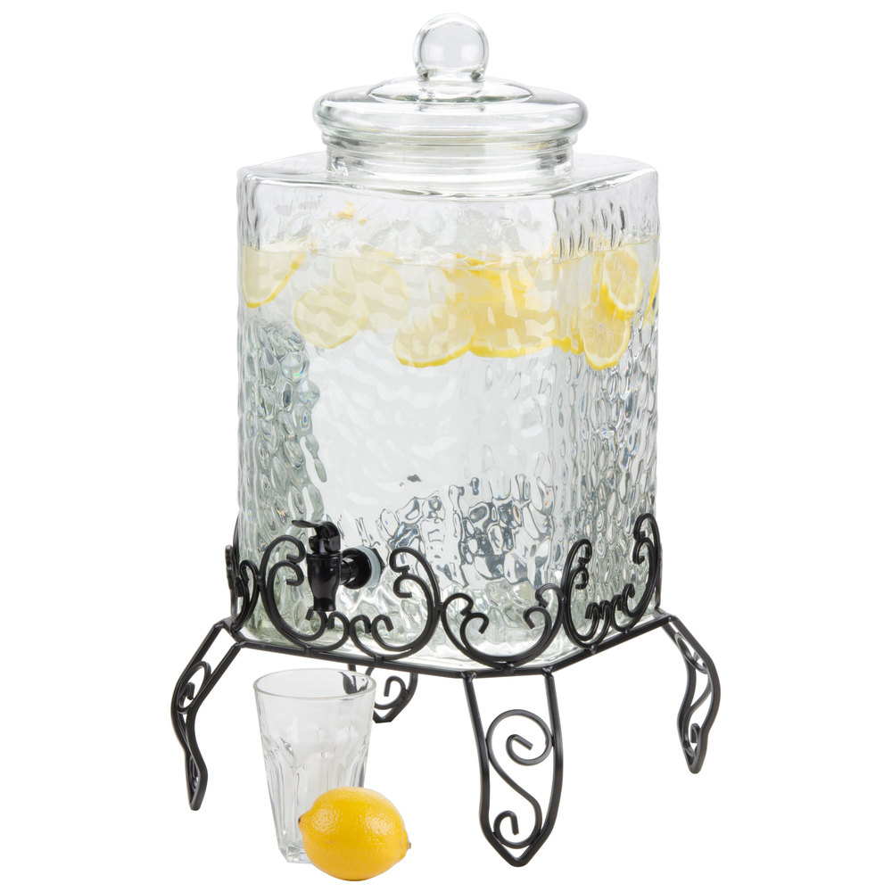 Gallon Glass Beverage Dispenser With Spigot
