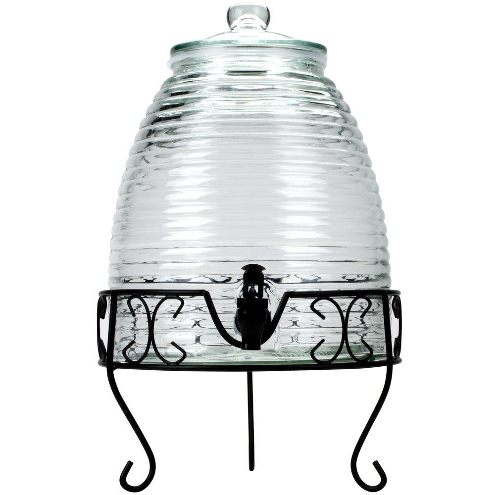 core 2 4 gallon glass beverage dispenser with metal stand. Black Bedroom Furniture Sets. Home Design Ideas
