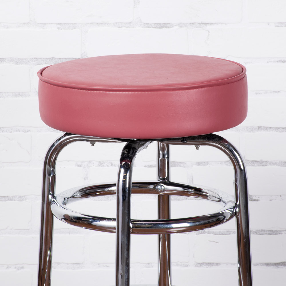 Lancaster Table & Seating Crimson Double Ring Barstool with 3 1/2 ...