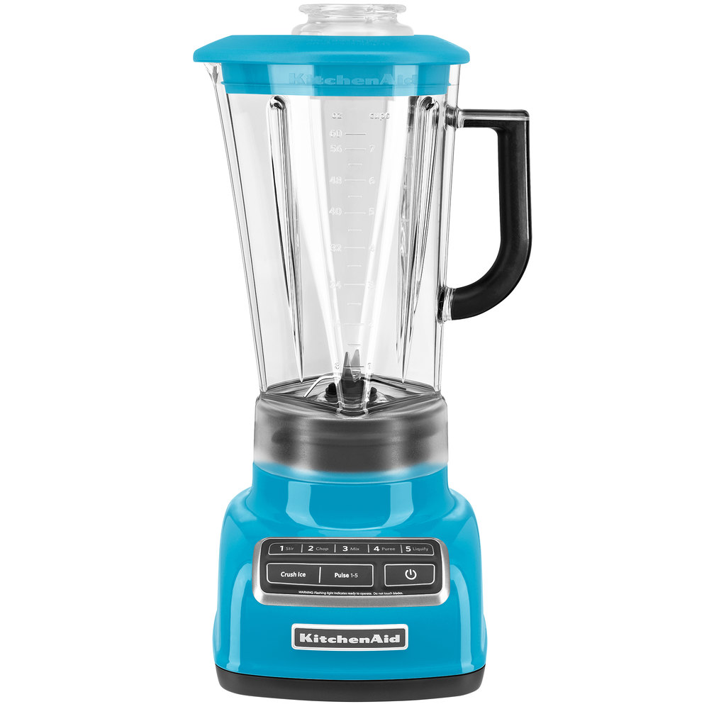 kitchenaid ksb1575cl crystal blue diamond 60 oz five speed blender