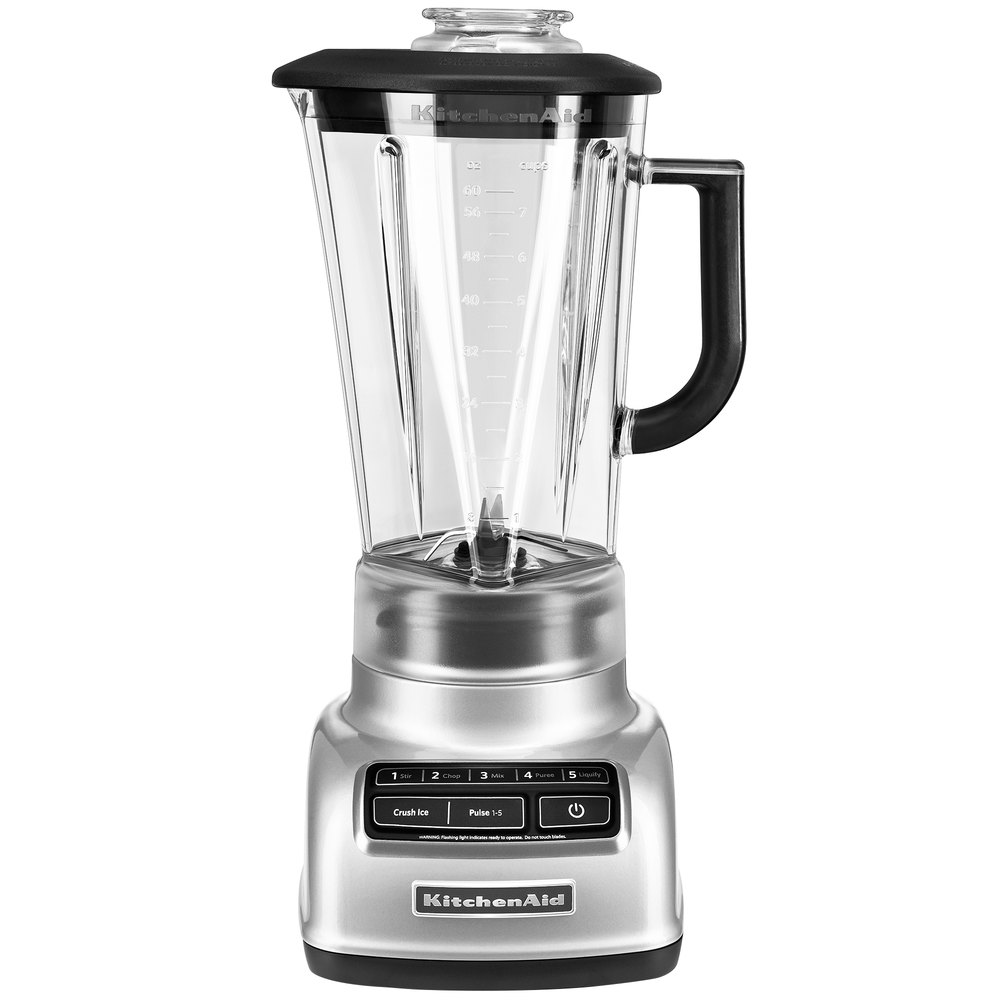 kitchenaid ksb1575mc metallic chrome diamond 60 oz five speed blender