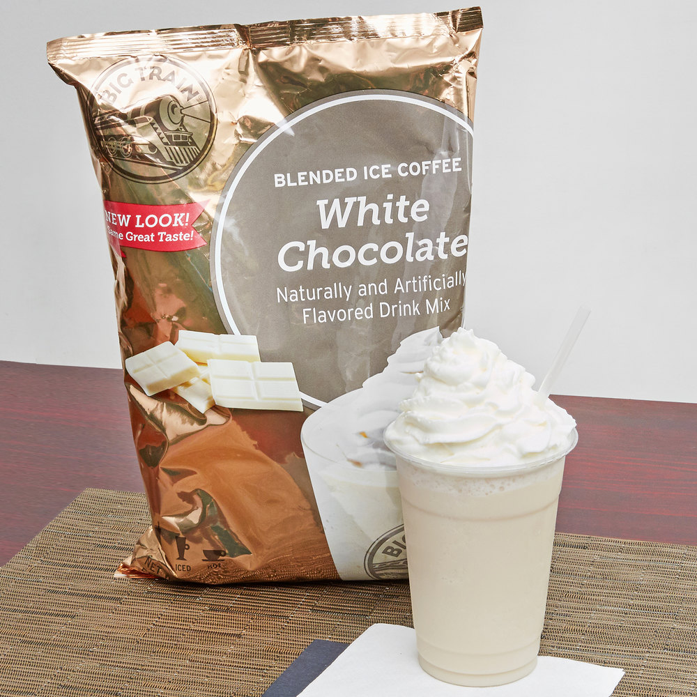 Big Train White Chocolate Latte Blended Ice Coffee Mix - 3.5 lb.