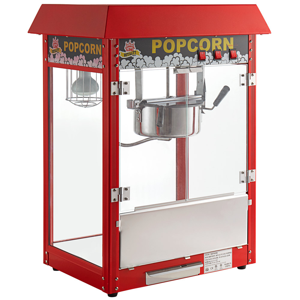 Carnival King PM30R Royalty Series 8 oz. Red Commercial Popcorn Machine / Popper - 120V, 1320W