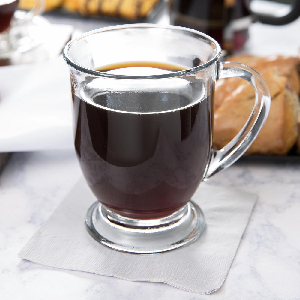 Anchor Hocking 83045A Customizable 16 oz. Glass Cafe Mug ...