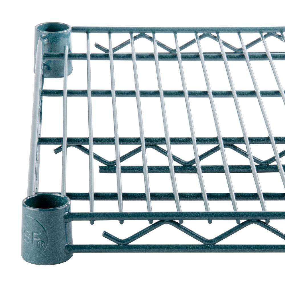 Regency 18 inch x 36 inch NSF Green Epoxy Wire Shelf