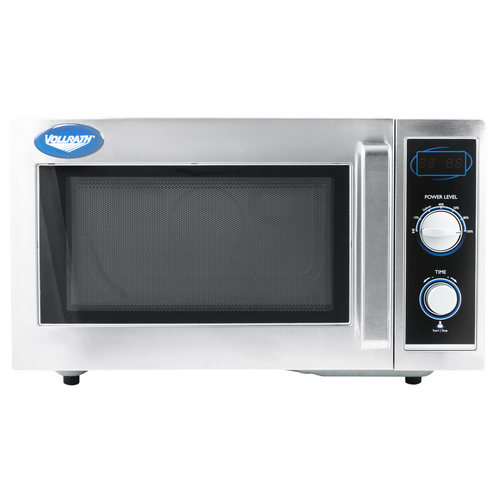 Vollrath 40830 Stainless Steel Commercial Microwave Oven With Manual Controls 120v