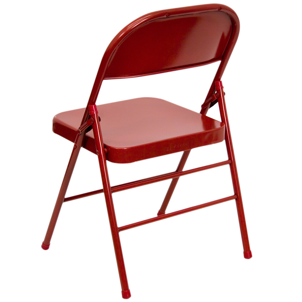 metal folding chairs with - photo #10