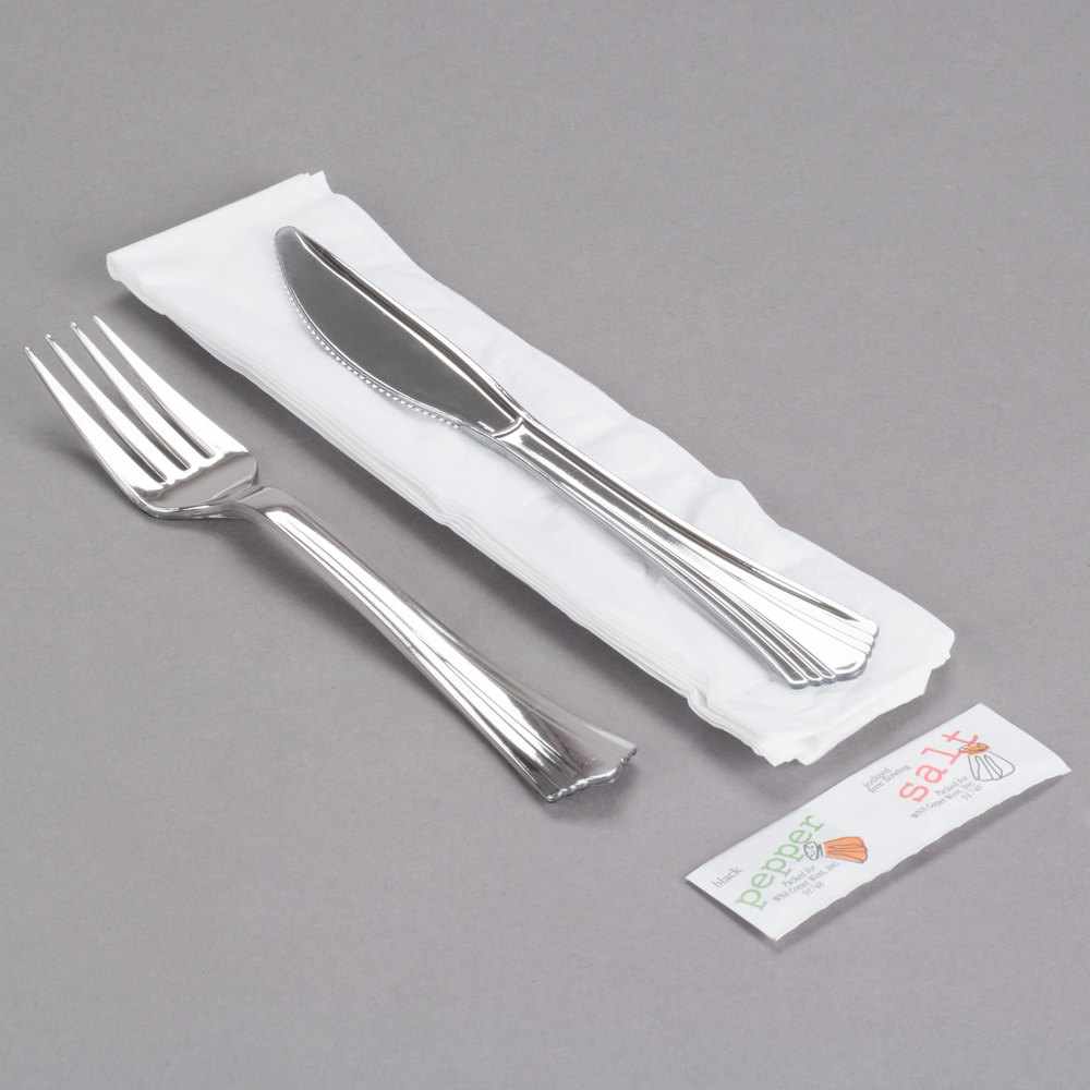 wna comet wrapped cutlery pack with knife fork napkin salt image preview