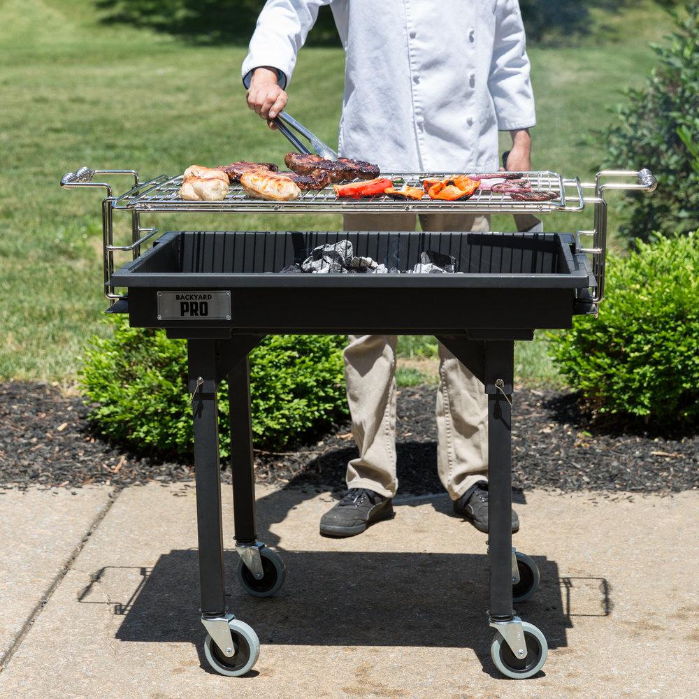 "Backyard Pro 30"" Heavy-Duty Steel Charcoal Grill With"