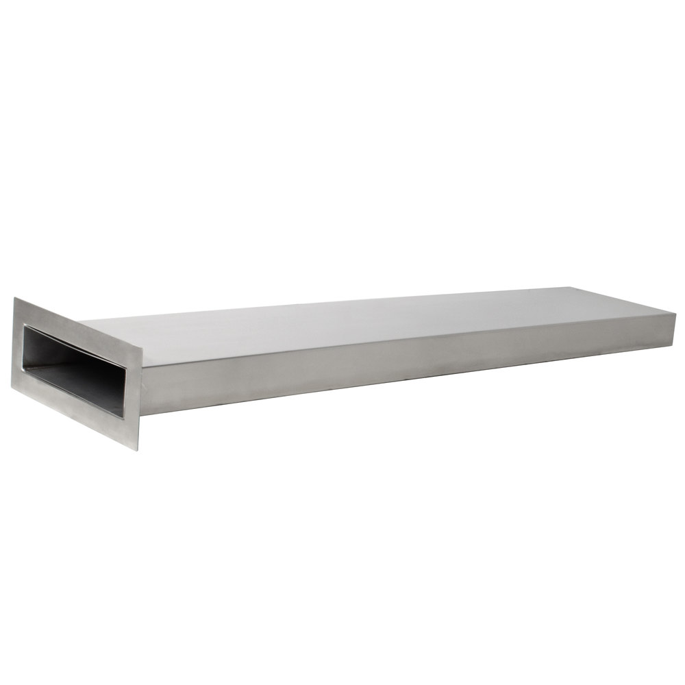 Regency Stainless Steel Vent Duct for Conveyor Dishwashers - 72 inch
