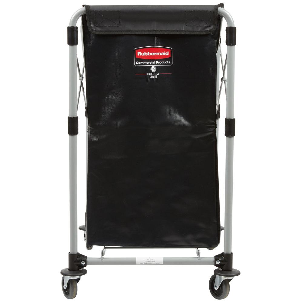 Rubbermaid Laundry Cart 4 Bushel X Frame Collapsible