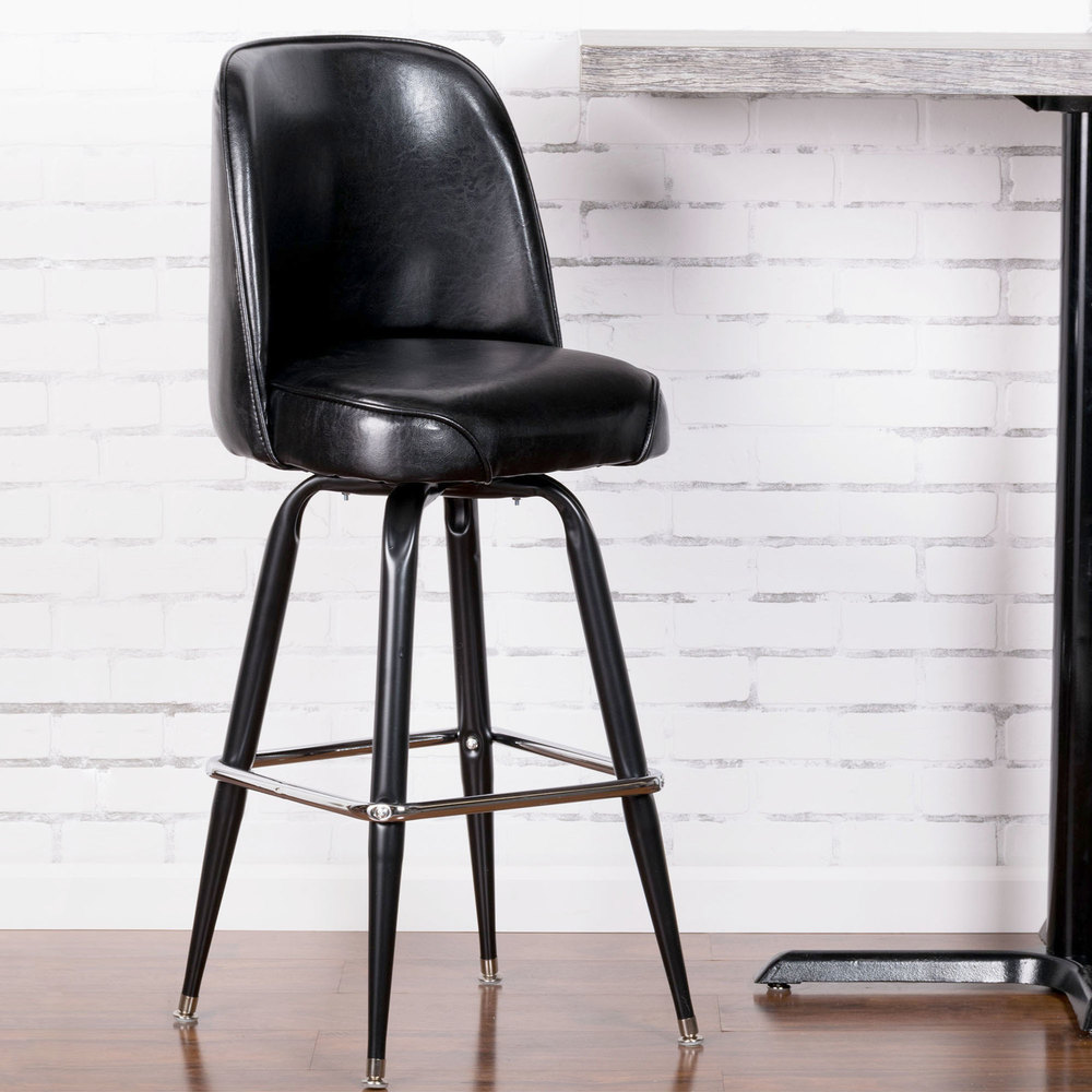Lancaster Table Amp Seating Deluxe Black Barstool With 19