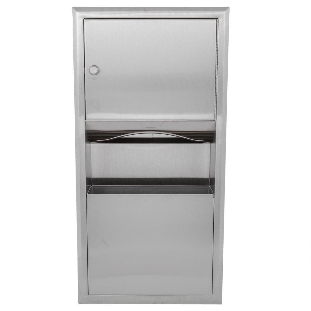Bobrick B 369 Classicseries Recessed Paper Towel Dispenser Waste Receptacle
