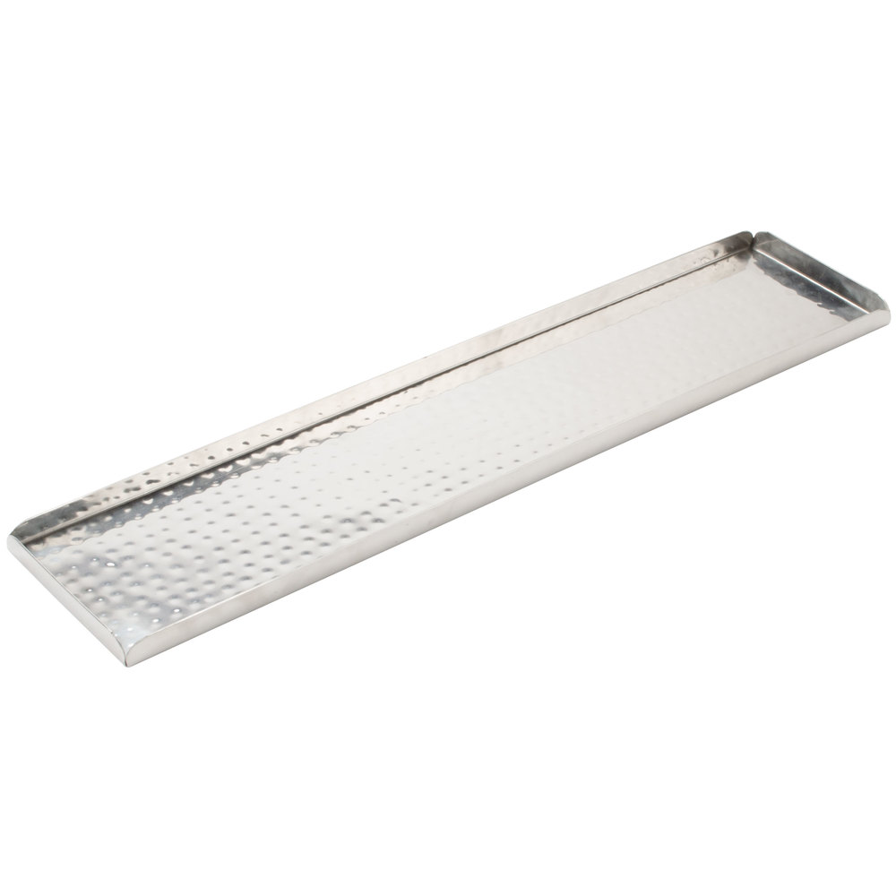 american metalcraft hmst  x   rectangular hammered  -  hammered stainless steel tray main picture image preview
