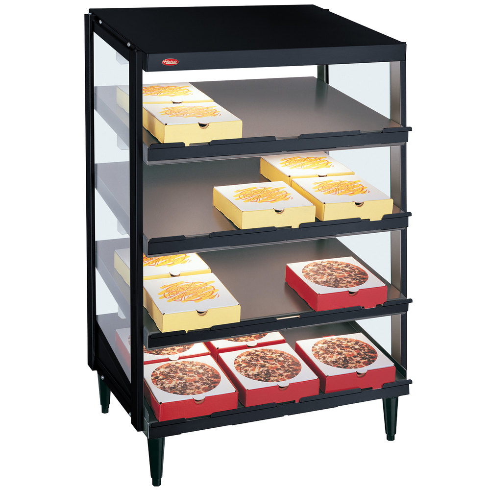 Pizza Warmers Of Glass ~ Hatco grpws q black glo ray quot quadruple shelf pizza