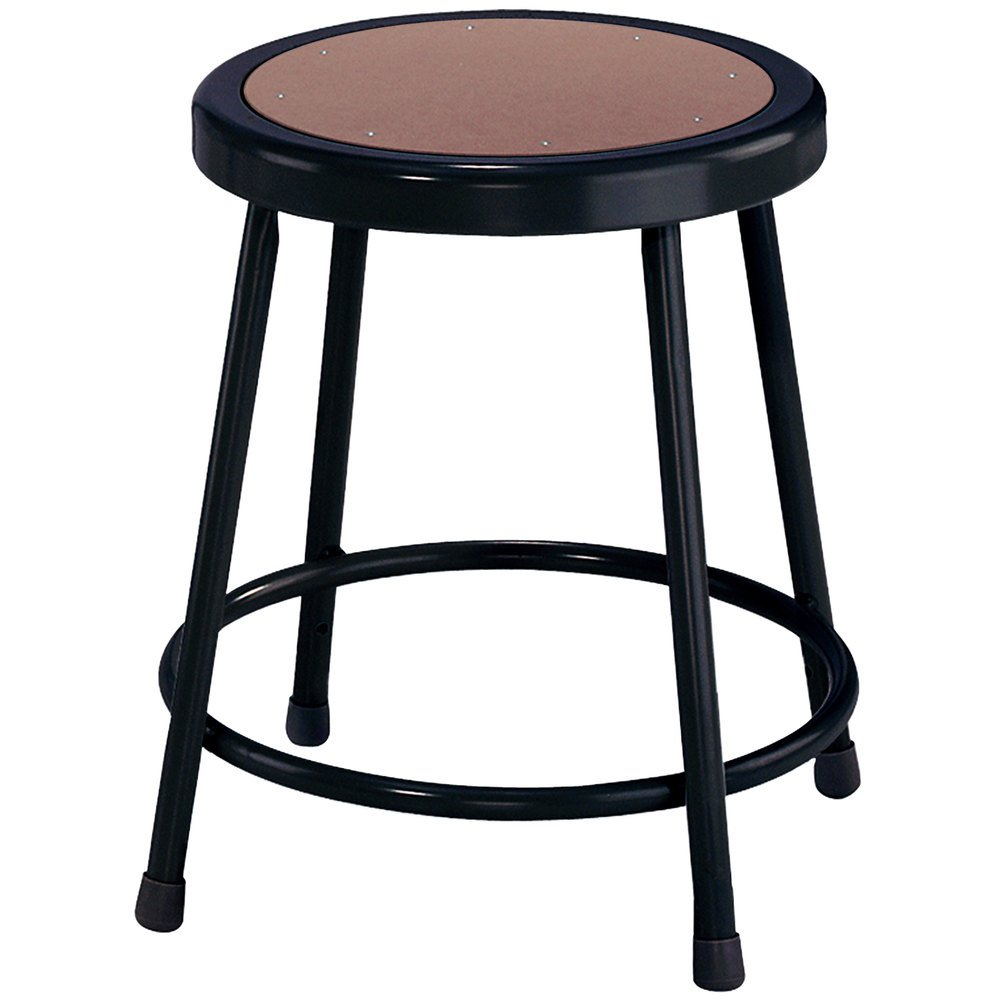 National Public Seating 6218 Black 18 Quot Hardboard Round Lab
