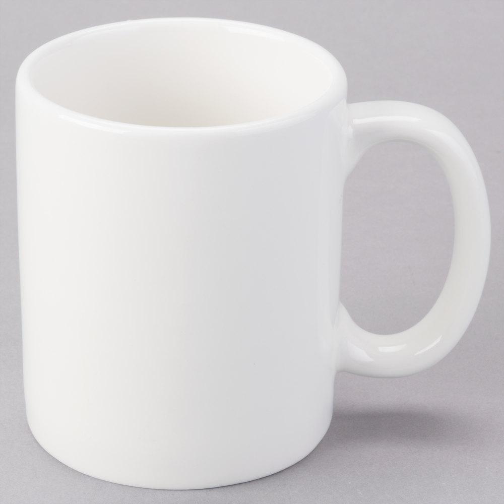 tuxton amu 150 alumatux pearl white 12 oz c handle mug 24 case