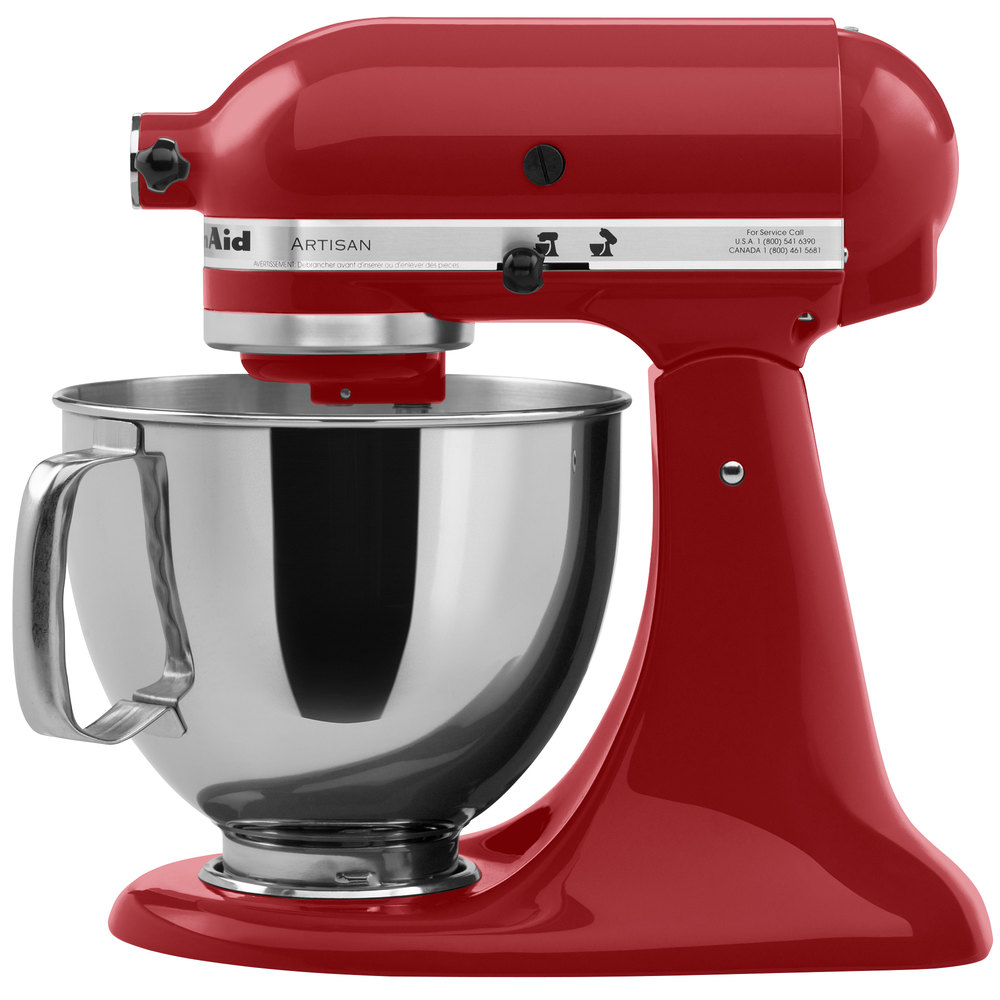 KitchenAid KSM150PSER Empire Red Artisan Series 5 Qt. Countertop Mixer