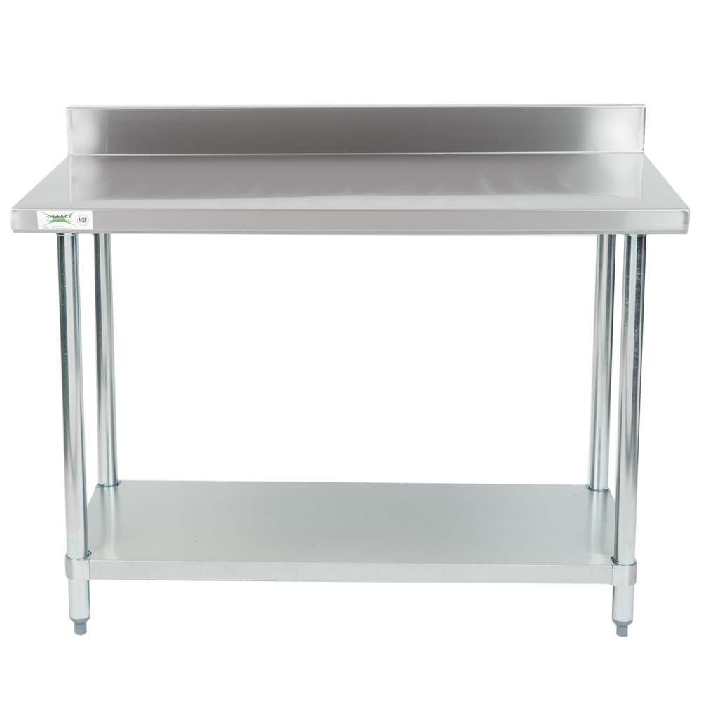 Design Stainless Steel Tables stainless steel work tables with undershelves regency 24 inch x 48 18 gauge 304 commercial table with