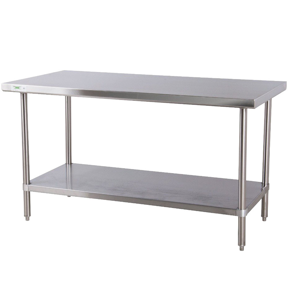 Regency 24 inch x 48 inch All 18-Gauge 430 Stainless Steel Commercial Work Table with Undershelf