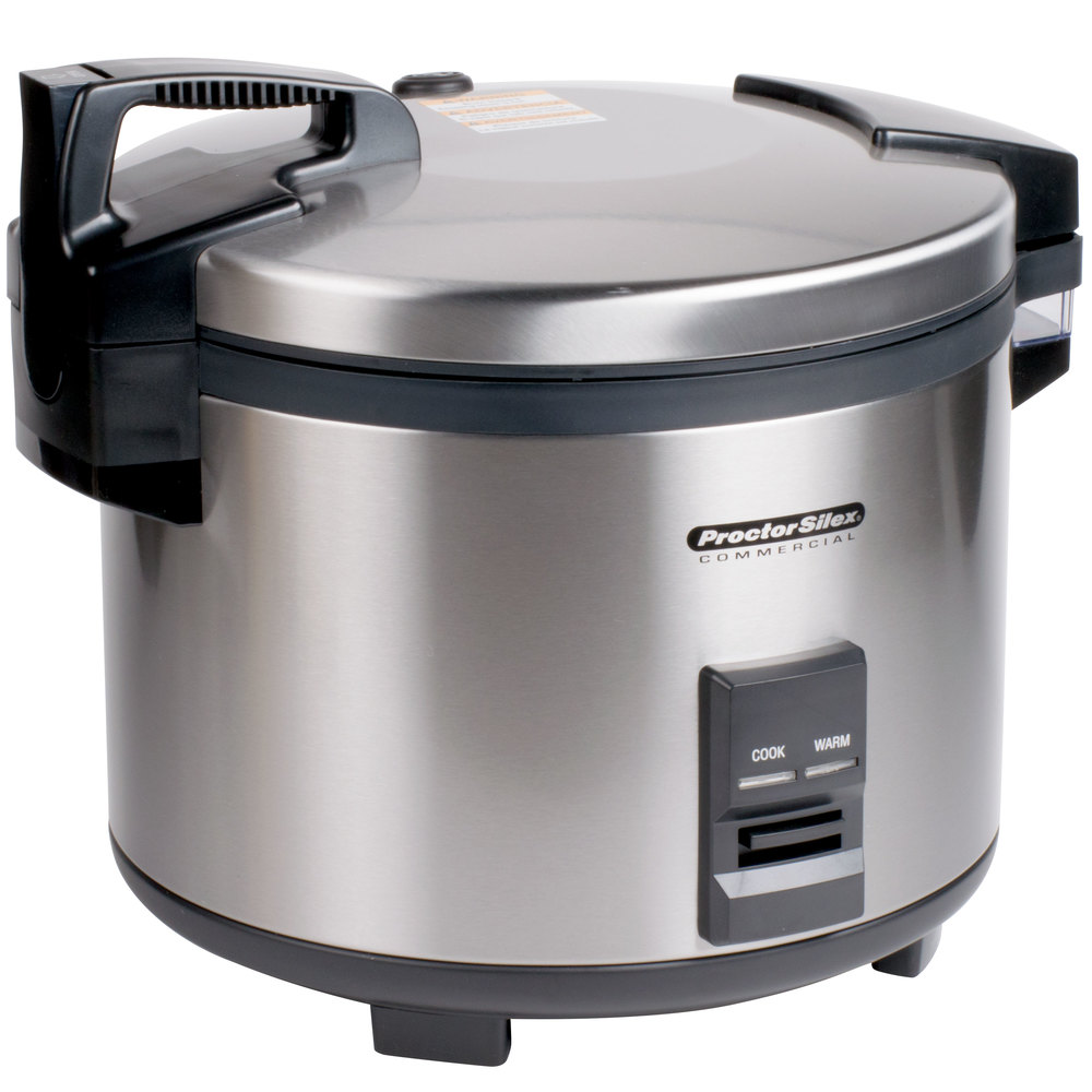 Commercial Electric Rice Cooker ~ Proctor silex r cup raw electric rice